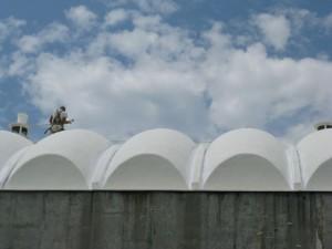 Repair and Recoat Fiberglass Dome