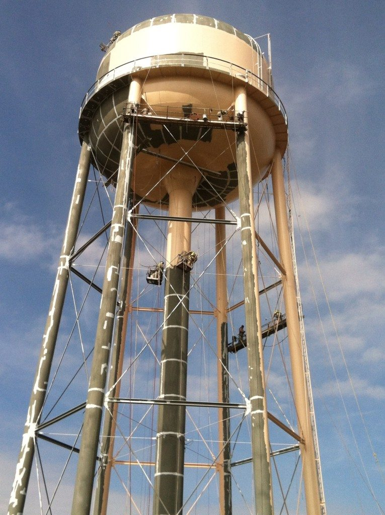 TMI Painting Elevated Water Tower