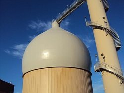 Foam Insulation and Coating by TMI on a Digester