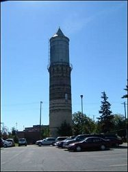 Fort Atkinson WI Historic Water Tower Before TMI Coatings Restoration