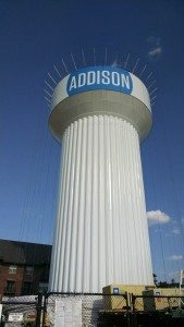 Exterior Finish Coat of HydroFlon of Water Tower Dallas, TX