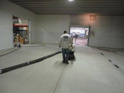 Shotblasting Floor to Prepare for New Floor Topping