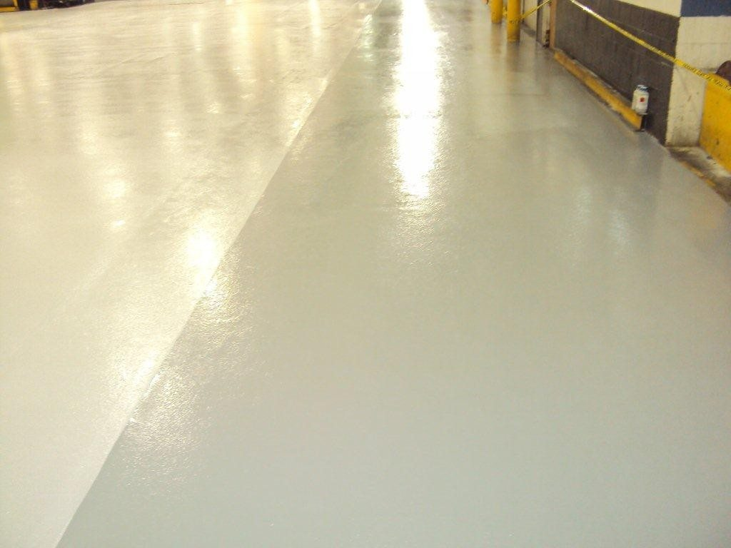 CHEM-RESIST floor coating with slip resistant finish for safety