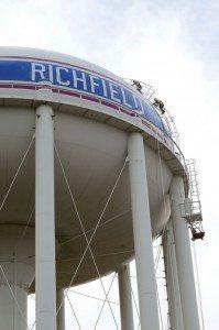 TMI Coatings rehabs the Penn Avenue water tower in Richfield, Minnesota