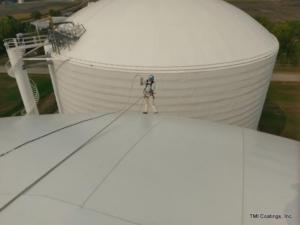 Painting Ammonia Tank