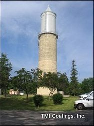 Fort Atkinson, WI historic water tower after TMI Coatings restoration