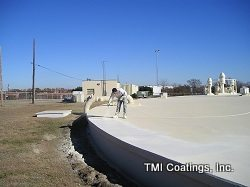 Reservoir coating being applied by TMI