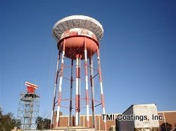 TMI Coatings restoration of elevated water storage tank at Naval Air Station in Pensacola, FL