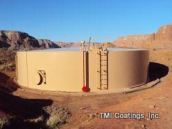 TMI sandblasted and painted a ground storage tank