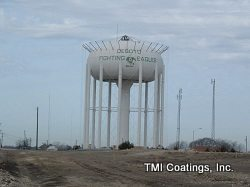 TMI beginning containment erection on elevated water storage tank (DeSoto, TX)