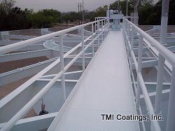 Another view of Clarifier Tank Painting
